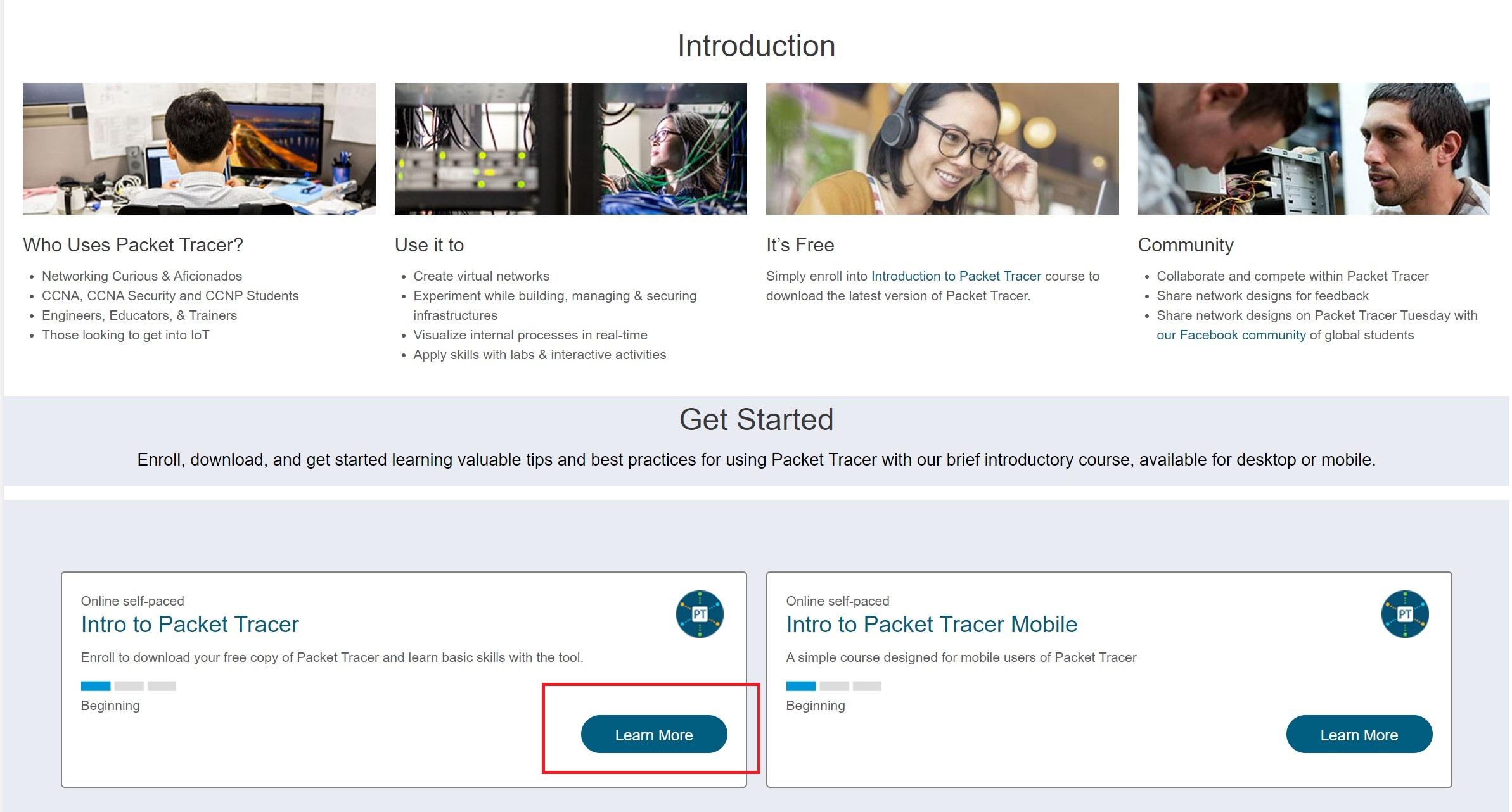 Ciscoパケットトレーサーのダウンロード方法