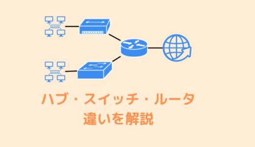 【CCNA・ネットワーク】ハブ・スイッチ・ルータの違いと役割を解説
