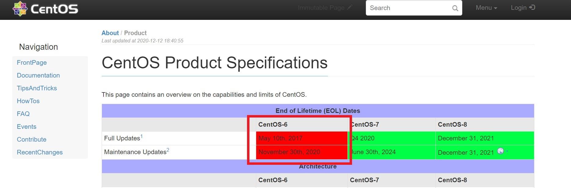 CentOS6のサポート終了