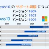 Windows10(1809) / Windows 10 (1903/1909) のサポート期限について解説